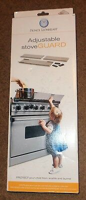Prince Lionheart Shield-A-Burn Adjustable Stovetop Oven Stove Guard BRAND NEW