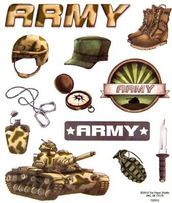 Military United States Army Scrapbook Stickers