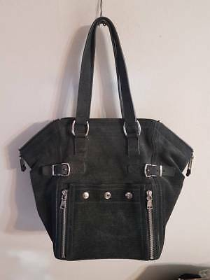 9ef15526f1d5 YSL YVES SAINT LAURENT Embossed Nubuck MED Downtown Tote Purse Hand bag  Shoulder