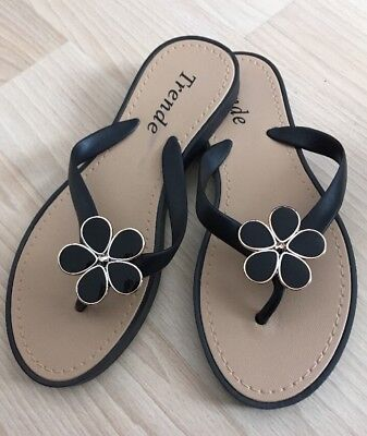 c7ccfc8f1 TED BAKER NAVY  floral Matinee Flip Flops toe Post Sandals Size Uk 8 ...