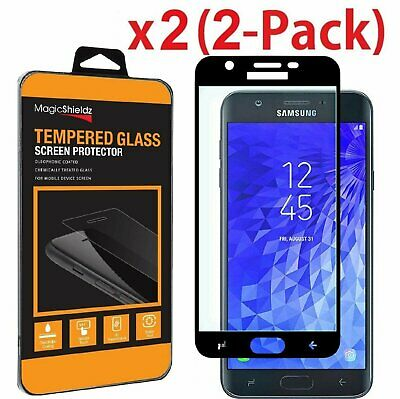 2-Pack Full Tempered Glass Screen Protector For Samsung Galaxy J7 2018 /Refine