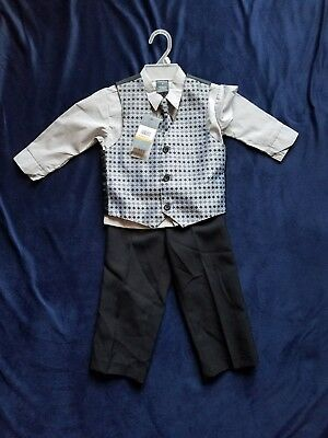 Boy Toddler Suit Outfit Set ~~Perry Ellis~~   3T  ~New With Tags~