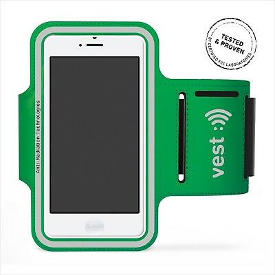 """Radiation Protection Sports Armband for 5"""" Screen by Vest (Green) - iPhone 6/..."""