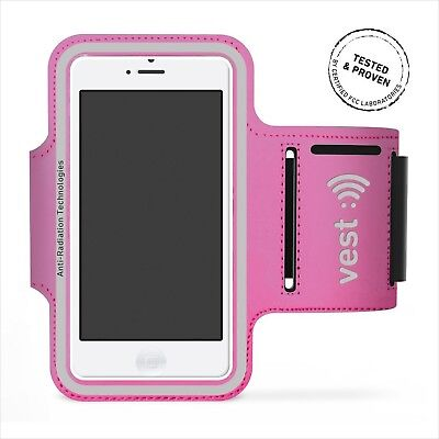 """Radiation Protection Sports Armband for 5"""" Screen by Vest (Pink) - iPhone 6/6..."""
