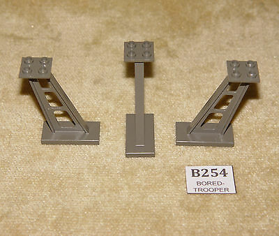 LEGO White Support 2 x 4 x 5 Stanchion Inclined 5mm Wide Posts Lot of One