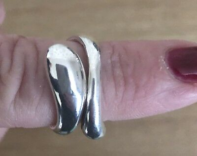 0c64b42bc TIFFANY & CO SOLID STERLING SILVER SNAKE RING - Elsa Peretti- SIZE 58/ R