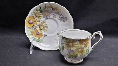 Royal Albert  Flower of the Month No. 4 Daisy - Cup & Saucer England Bone China