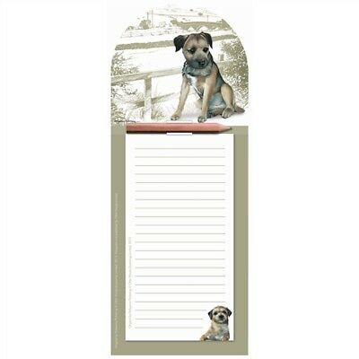 BORDER TERRIER Magnetic Memo Pad | Fridge Magnet Shopping List | With Pencil