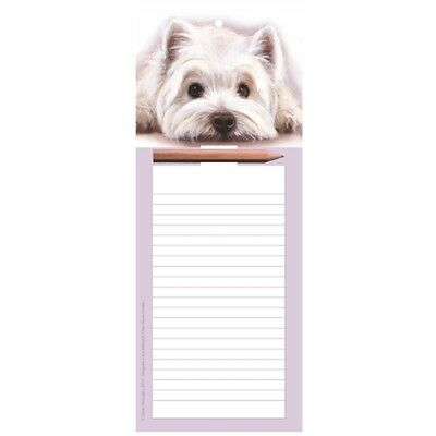 WESTIE Magnetic Memo Pad | Fridge Magnet Shopping List | With Pencil | FREE P&P