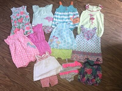 Mixed lot of infant girl clothes 0-12 months