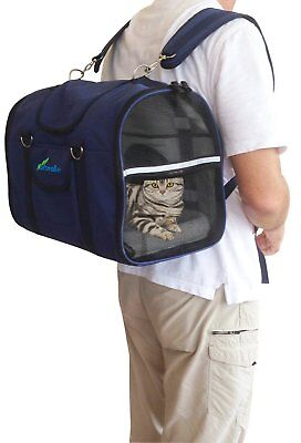 Airline Approved Pet cat dog Carrier Back/Front Pack Shoulder Bag FREE POST