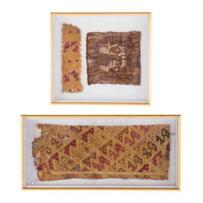 Two Framed Pre-Columbian Textiles
