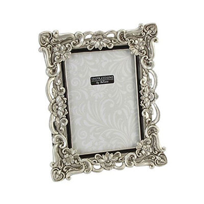 "Silver Resin Antique Effect Photo Frame 6x8"" Photograph Horizontal or Portrait"