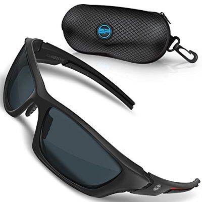 BLUPOND Polarized Sports Sunglasses for Men - TR90 Unbreakable Frames for ..