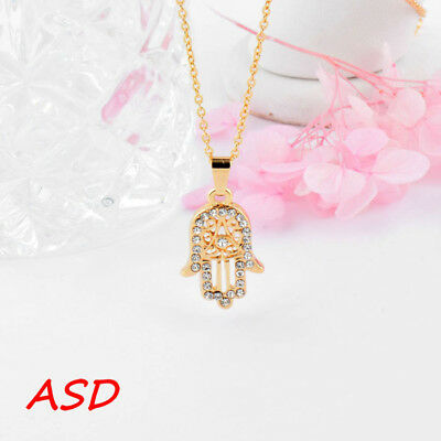 Hand Tiny Crystal Pendant  Necklace Unique Design Choker For Women Girls
