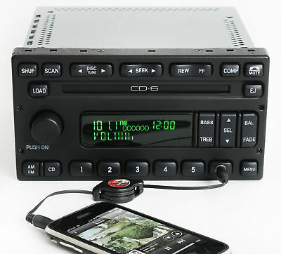 Ford Escape Mariner Radio 2003-2005 AM FM 6 Disc CD w Aux Input - 3C2T-18C815-AC