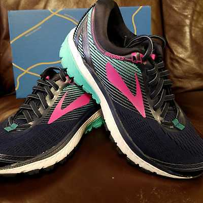 4b7e4755add Brand New In Box! Brooks Ghost 10 Womens Running Shoes Navy Pink Teal Green  451