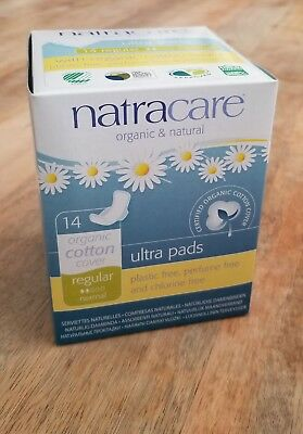(2 Pack) Natracare Natural Ultra Pads with Wings - Regular - 14 count each