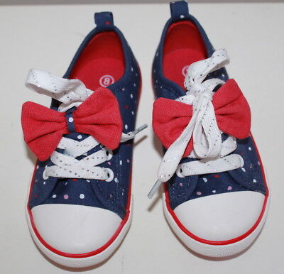 Pumpkin patch blue shoes with bow toddler girl size 8 new without tags #454