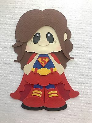 Fully assembled Super Girl /  Woman inspired paper piecing / die cut