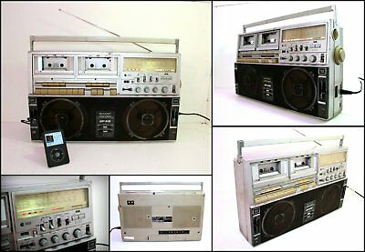 SHARP GF-515 4 Band Radio Double Cassette Ghettoblaster Big Boombox