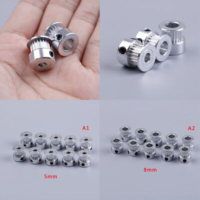 10Pcs gt2 timing pulley 20 teeth bore 5mm 8mm for gt2 synchronous belt 2gt belt^