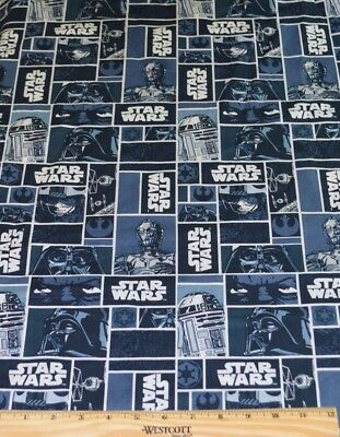 Star Wars Fabric! By Half Yard 4 Quilting! Darth Vadar~R2D2~C3Po~Tie Fighter!