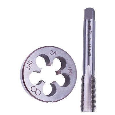 9 16 24 16x24 TPI Tap And Die Set HSS