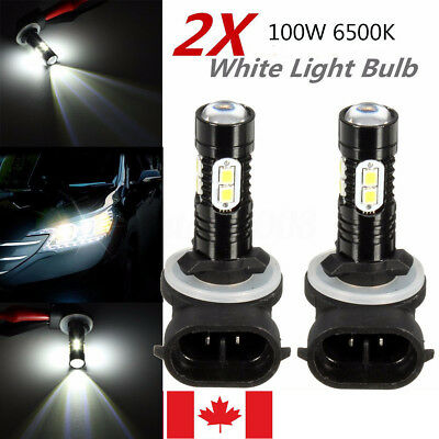 2 PACK 100W Cree LED Fog Driving Lights Bulb 881 862 886 889 894 896 898 White