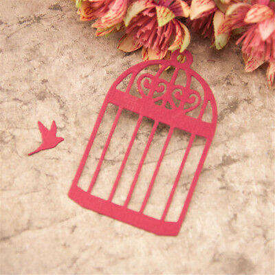 Metal Bird Cage Cutting Dies Stencil DIY Scrapbooking Album Paper Card Emboss EW