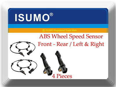 4 X ABS Wheel Speed Sensor Front-Rear Left/Right Fits: Jeep Wrangler 2007-2017