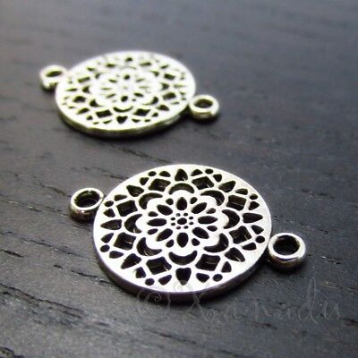 10//50//260pcs Antique Silver Beautiful handmade Annulus Charms Connectors 16mm
