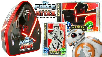 STAR WARS The Force Awakens - Force Attax Tin, 48 cards & 1 Limited Edition Card
