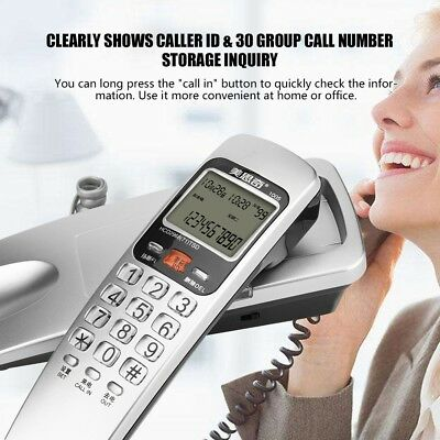 Quality Wall Mount Corded Phone Caller ID Telephone Home Office Desktop Phone UK