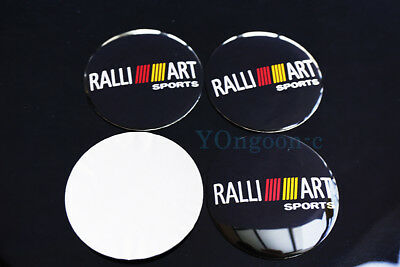 56.5mm 4Pcs Car Wheel Center Hub Caps Stickers Emblem For RALLIART Mitsubishi