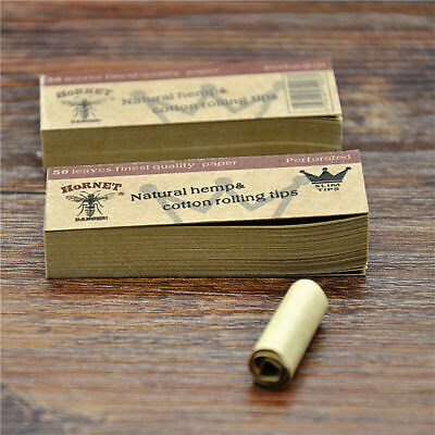 5 x Hornet Rolling Paper Filter Tips Natural Brown Unrefined 50 leaves 60*21MM