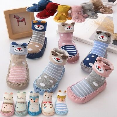 2018 Baby Boy Girl Socks Cotton Children Floor Socks Anti-Slip Baby Step Socks 9