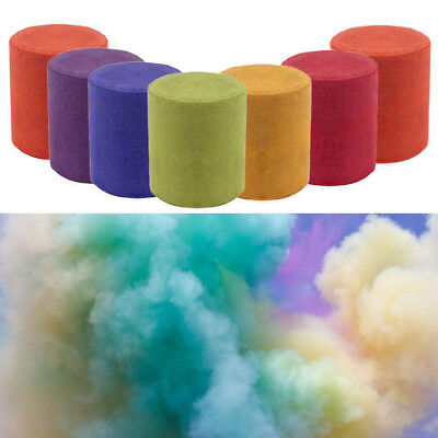 1/2Pcs Colorful Smoke Cake Smoke Effect Show Round Bomb Photography Aid Tools