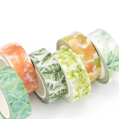 1 Rolls Floral Washi Tape Paper Sticker Adhesive Tape DIY Craft Decorative