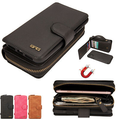 Galaxy S8 S9 S10 Plus S10e Note 9 Leather Cover Zipper Wallet Case For Samsung