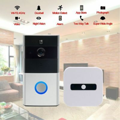720P HD WiFi Video Doorbell Wireless Door Bell Camera Built in 8G Memory Card