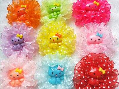 10Pcs  Pet Hair Dot Bows Rubber Bands /Clip  Dog Grooming Accessories