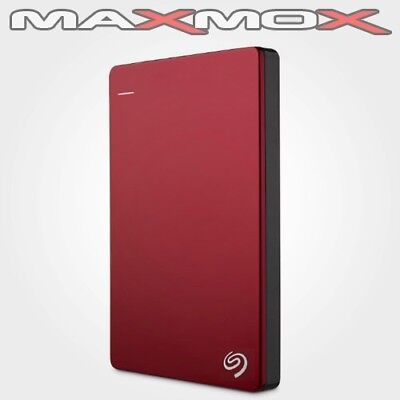 Seagate Backup Plus Slim Portable externe 2TB Festplatte rot USB 3.0 tragbar red
