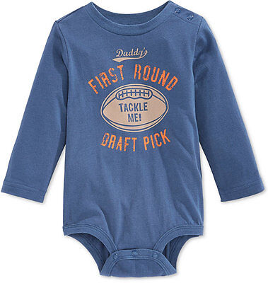 First Impressions Baby Boys' Long-Sleeve Draft Pick Bodysuit,Size 12 Months