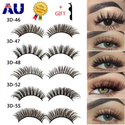 20Pairs 3D Natural Fake Eyelashes Long Thick Mixed False Eye Lashes Makeup Mink