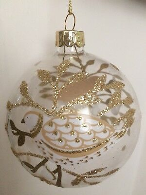 Gisela Graham Baby/'s 1st Christmas Glass Bauble by gisela graham with gold 00328