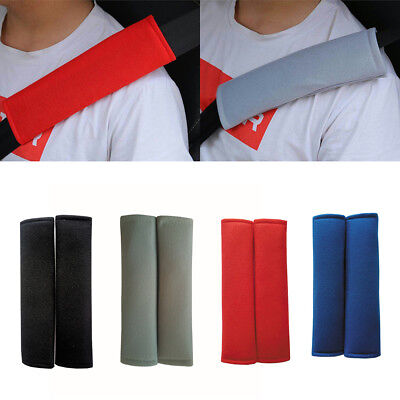 2× Universal Children Car Safety Seat Belt Pillow Shoulder Strap Cover Pad Funny