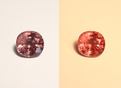 2ct Colour Change Malaya Garnet - Custom Cut Large Cushion Gem