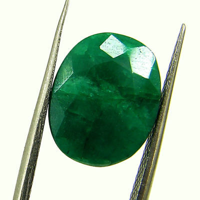 5.40 Ct Certified Natural Green Emerald Loose Oval Cut Gemstone Stone - 131256