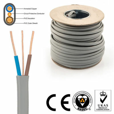 Twin and Earth Electric Cable 1.5mm 2.5mm 4mm 6mm Electrical Lights Socket Wire